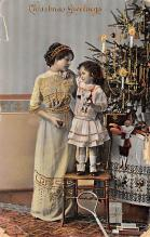 xms005807 - Christmas Post Card Old Vintage Antique Xmas Postcard