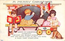 xms005811 - Christmas Post Card Old Vintage Antique Xmas Postcard