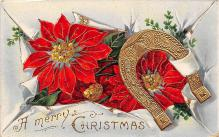 xms005813 - Christmas Post Card Old Vintage Antique Xmas Postcard