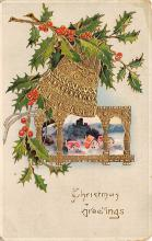 xms005817 - Christmas Post Card Old Vintage Antique Xmas Postcard