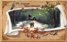 xms005821 - Christmas Post Card Old Vintage Antique Xmas Postcard