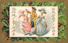 xms005823 - Christmas Post Card Old Vintage Antique Xmas Postcard