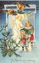 xms005829 - Christmas Post Card Old Vintage Antique Xmas Postcard