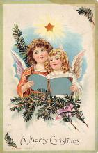 xms005831 - Christmas Post Card Old Vintage Antique Xmas Postcard