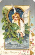xms005841 - Christmas Post Card Old Vintage Antique Xmas Postcard