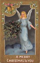 xms005847 - Christmas Post Card Old Vintage Antique Xmas Postcard