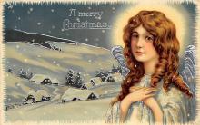 xms005855 - Christmas Post Card Old Vintage Antique Xmas Postcard