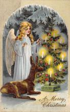 xms005857 - Christmas Post Card Old Vintage Antique Xmas Postcard