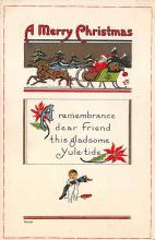 xms005861 - Christmas Post Card Old Vintage Antique Xmas Postcard