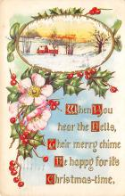 xms005871 - Christmas Post Card Old Vintage Antique Xmas Postcard