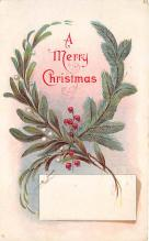 xms005875 - Christmas Post Card Old Vintage Antique Xmas Postcard