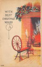 xms005877 - Christmas Post Card Old Vintage Antique Xmas Postcard