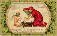 xms005879 - Christmas Post Card Old Vintage Antique Xmas Postcard