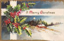 xms005881 - Christmas Post Card Old Vintage Antique Xmas Postcard