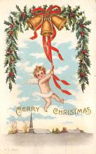 xms005885 - Christmas Post Card Old Vintage Antique Xmas Postcard