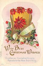 xms005887 - Christmas Post Card Old Vintage Antique Xmas Postcard