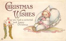xms005893 - Christmas Post Card Old Vintage Antique Xmas Postcard