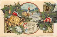 xms005897 - Christmas Post Card Old Vintage Antique Xmas Postcard