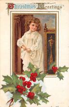 xms005899 - Christmas Post Card Old Vintage Antique Xmas Postcard