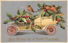 xms005901 - Christmas Post Card Old Vintage Antique Xmas Postcard