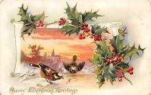 xms005905 - Christmas Post Card Old Vintage Antique Xmas Postcard