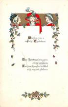 xms005909 - Christmas Post Card Old Vintage Antique Xmas Postcard