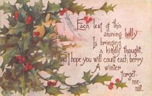 xms005911 - Christmas Post Card Old Vintage Antique Xmas Postcard