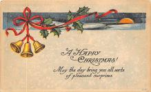 xms005913 - Christmas Post Card Old Vintage Antique Xmas Postcard