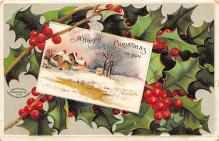 xms005927 - Christmas Post Card Old Vintage Antique Xmas Postcard