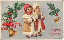 xms005929 - Christmas Post Card Old Vintage Antique Xmas Postcard