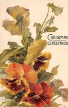 xms005931 - Christmas Post Card Old Vintage Antique Xmas Postcard