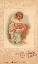 xms005935 - Christmas Post Card Old Vintage Antique Xmas Postcard