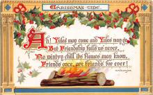 xms005941 - Christmas Post Card Old Vintage Antique Xmas Postcard