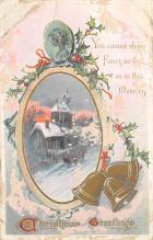 xms005943 - Christmas Post Card Old Vintage Antique Xmas Postcard
