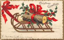 xms005945 - Christmas Post Card Old Vintage Antique Xmas Postcard