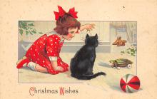 xms005947 - Christmas Post Card Old Vintage Antique Xmas Postcard