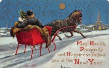 xms005949 - Christmas Post Card Old Vintage Antique Xmas Postcard