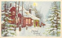 xms005971 - Christmas Post Card Old Vintage Antique Xmas Postcard