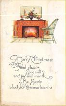 xms005977 - Christmas Post Card Old Vintage Antique Xmas Postcard