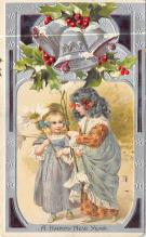 xms005993 - Christmas Post Card Old Vintage Antique Xmas Postcard