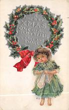 xms005997 - Christmas Post Card Old Vintage Antique Xmas Postcard