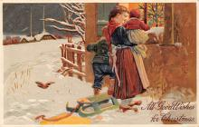xms006007 - Christmas Post Card Old Vintage Antique Xmas Postcard