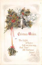xms006009 - Christmas Post Card Old Vintage Antique Xmas Postcard