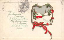 xms006017 - Christmas Post Card Old Vintage Antique Xmas Postcard