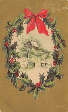 xms006019 - Christmas Post Card Old Vintage Antique Xmas Postcard