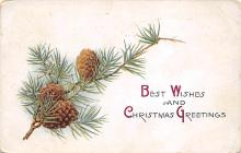 xms006021 - Christmas Post Card Old Vintage Antique Xmas Postcard
