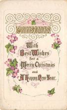 xms006025 - Christmas Post Card Old Vintage Antique Xmas Postcard