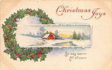xms006027 - Christmas Post Card Old Vintage Antique Xmas Postcard