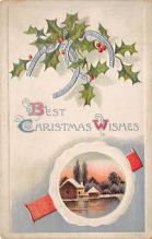 xms006031 - Christmas Post Card Old Vintage Antique Xmas Postcard
