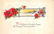 xms006033 - Christmas Post Card Old Vintage Antique Xmas Postcard